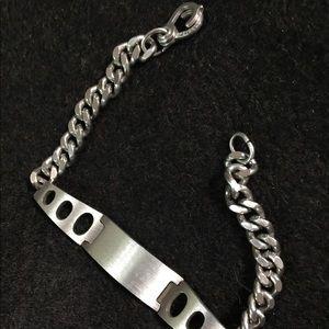 Stainless steel plaque engravible bracelet